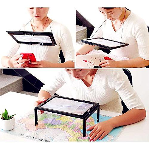 Magnifying Page Magnifier Hands-Free LED Lights with Neck Old Vision Seniors Sewing Yxaomite