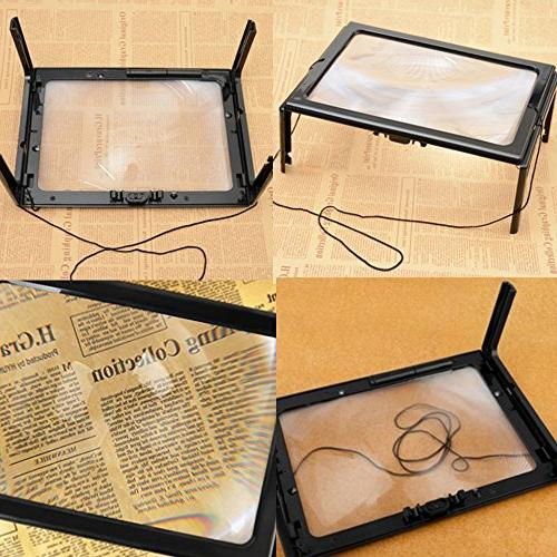 Magnifying Glass Page Hands-Free LED Old Reading Low Vision Sewing Stitch Inspection Yxaomite