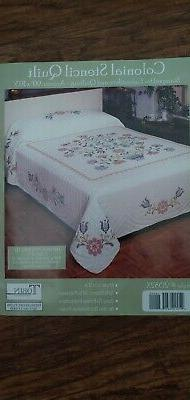 NEW Tobin Colonial Stencil Quilt stamped cross stitch embroi