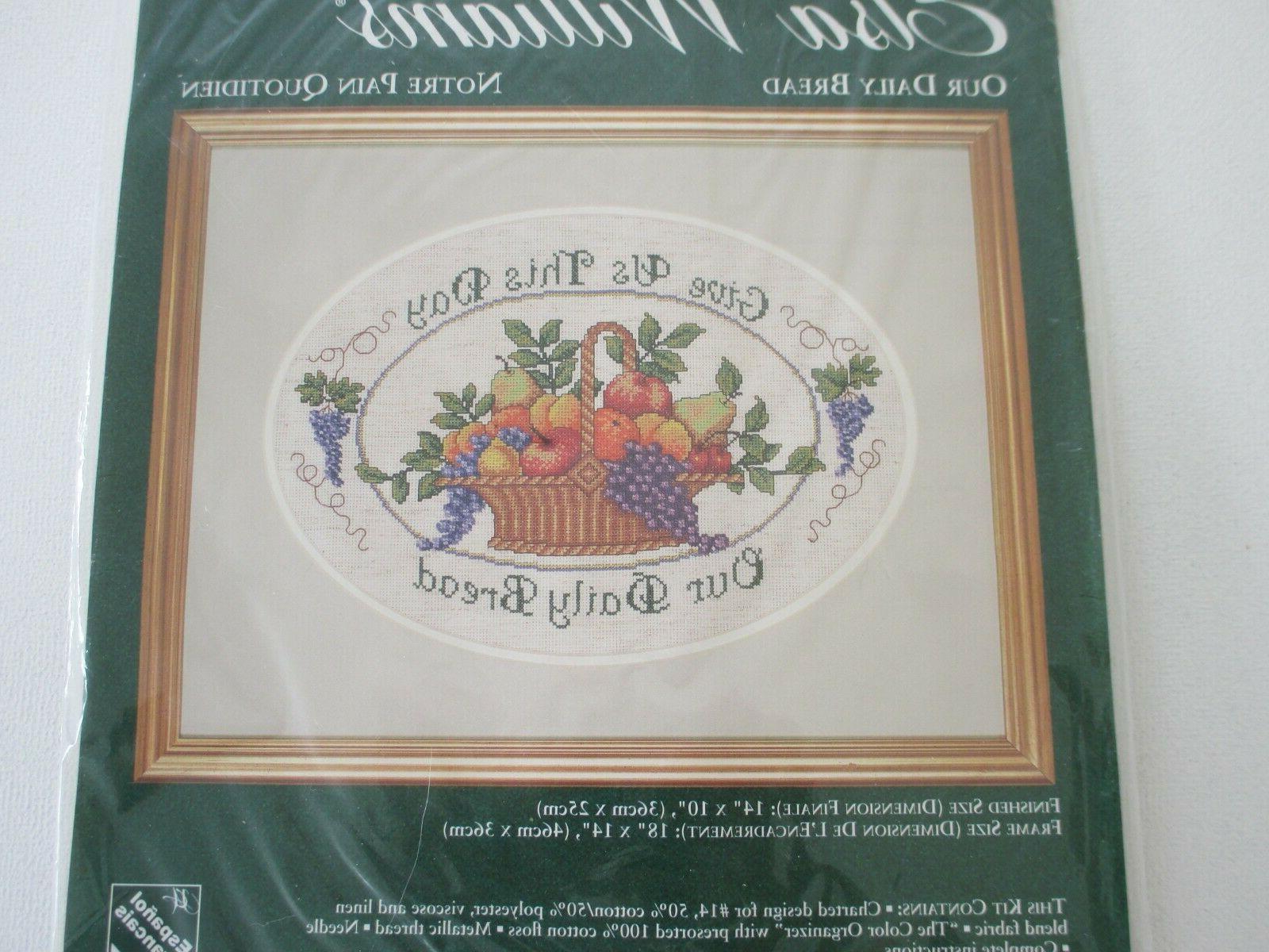NEW Williams Cross Stitch Kit Daily Bread Family Prayer 02112