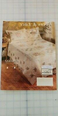 NEW Tobin Roses and Lace Quilt stamped cross stitch embroide