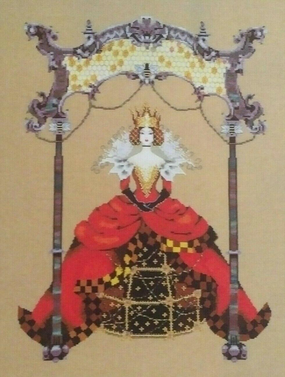 queen bee cross stitch chart