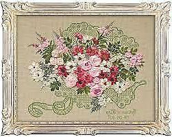 Riolis Cross Stitch & Ribbon Embroidery Kit - Wedding Bouque