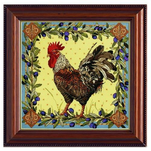 "Rooster Stitch Kit-12-1/2""X12-1/2"" Count"