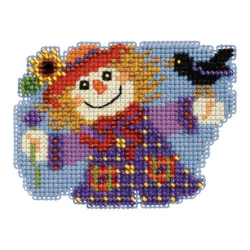 sally scarecrow bead cross stitch kit 2017