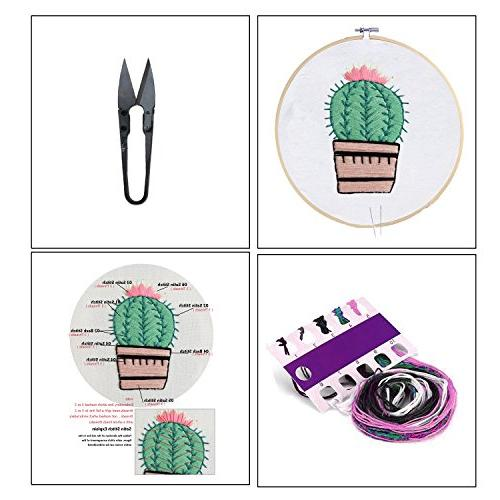 Full Set Handmade Embroidery Partten Cross Stitch Including Embroidery Hoop, Tools Kitfor