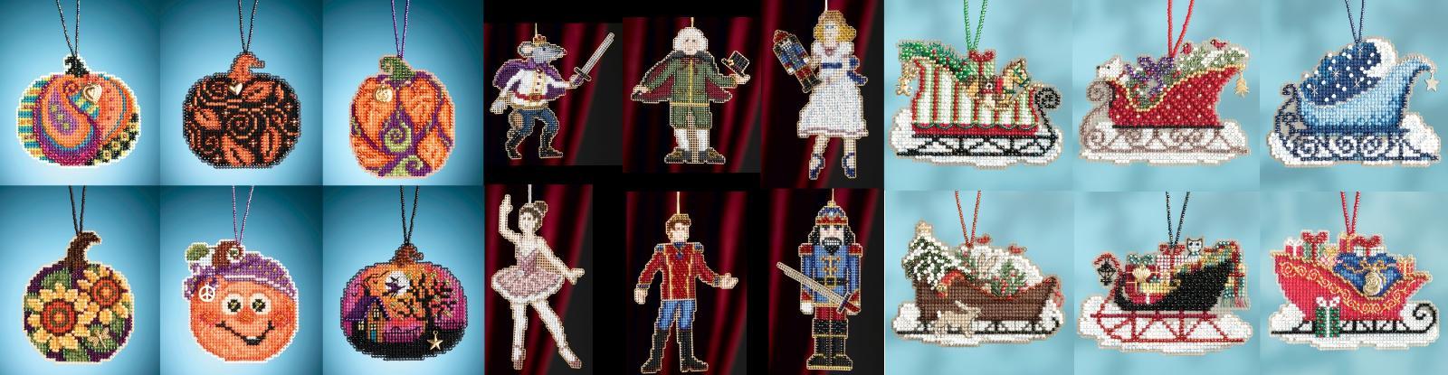 sleigh ride charmed ornaments cross stitch kits