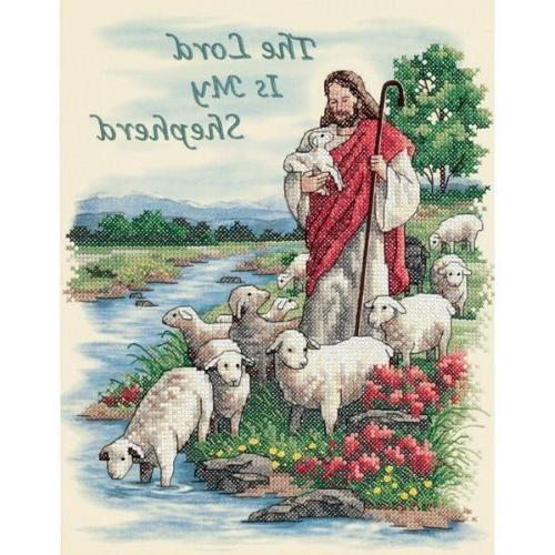 "Dimensions Lord My Shepherd"" Stamped Stitch Kit, 14"