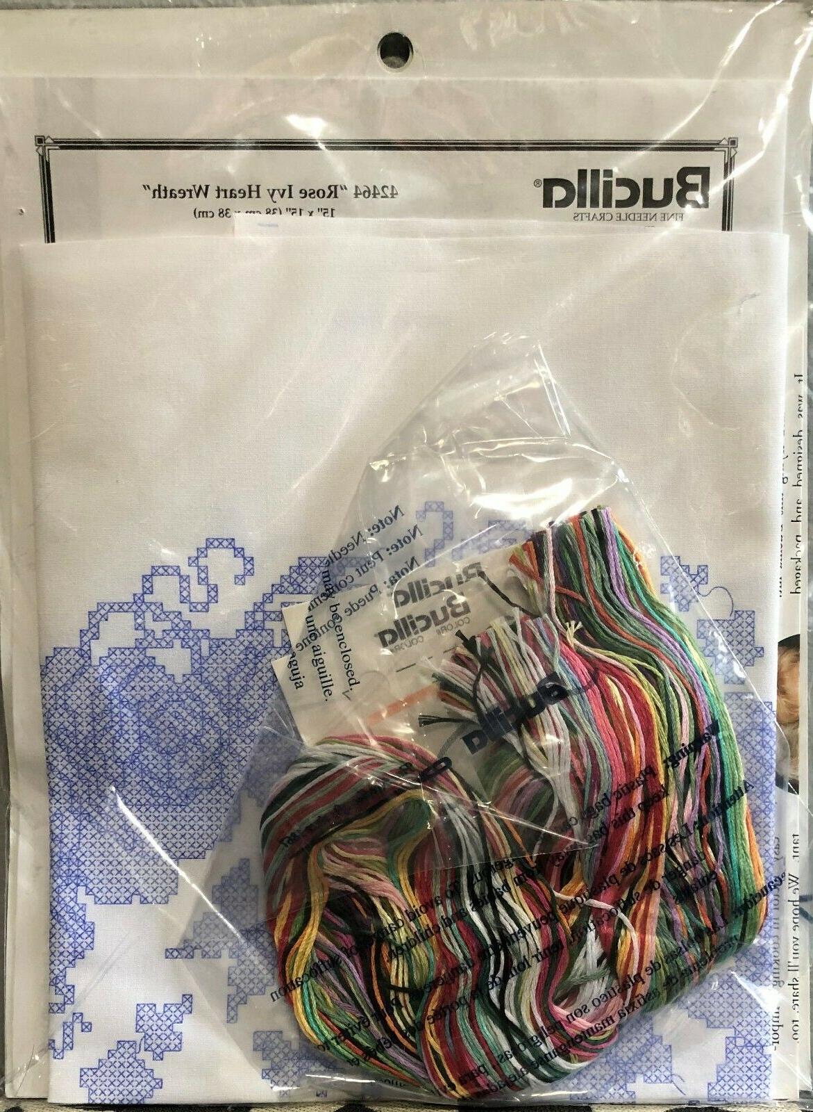 Bucilla Cross Stitch Kit - Rose Heart
