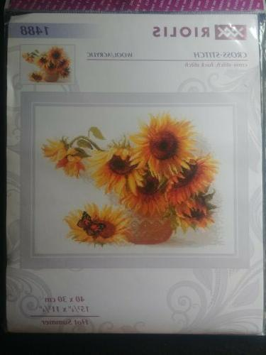summer counted cross stitch kit