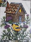 THISTLE BIRDHOUSE Stamped Cross Stitch Kit by Candamar - 11