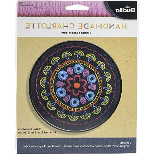 tribal medallion stamped embroidery kit