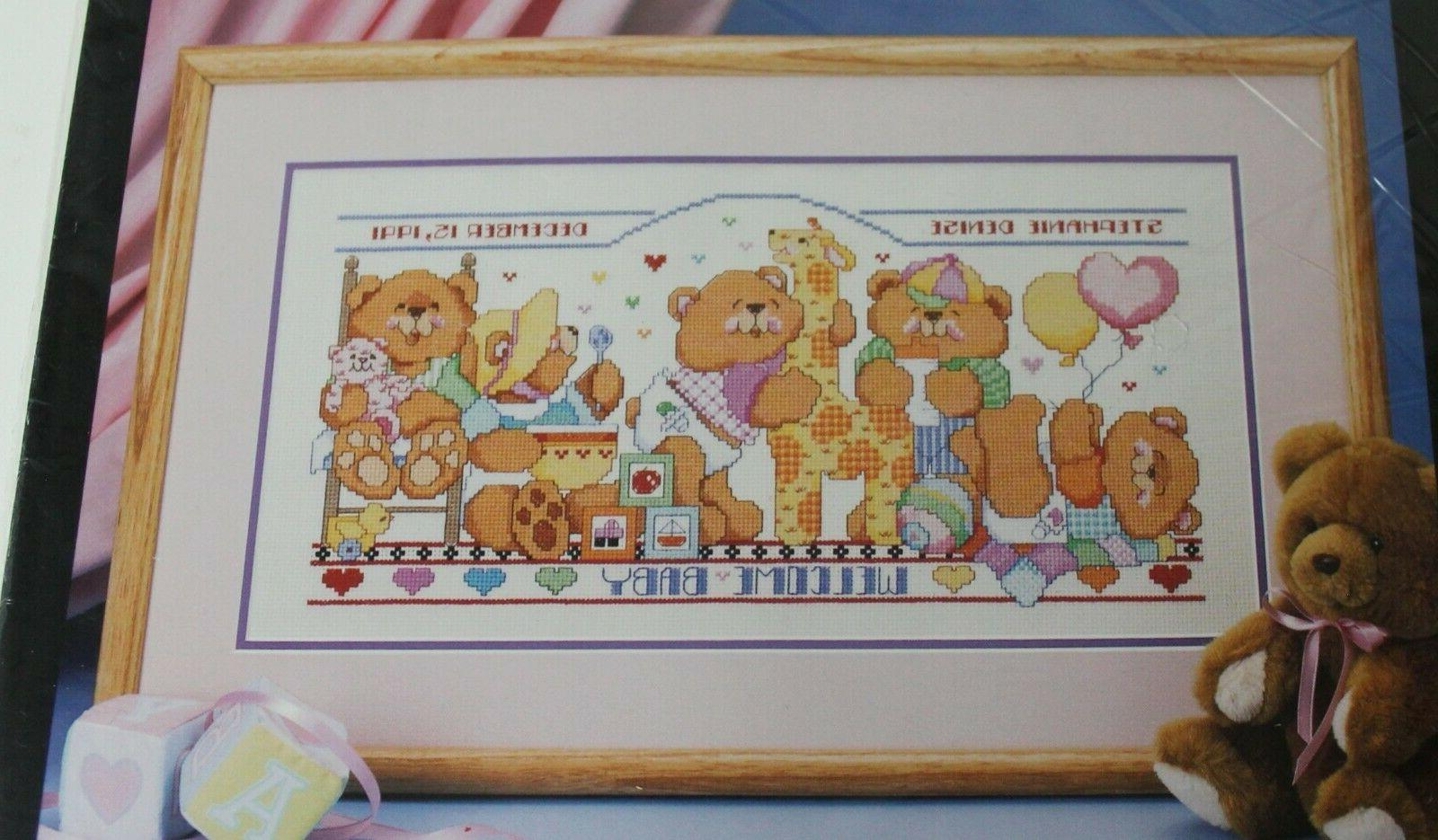 Unopened Counted Cross X-Stitch BEARS RECORD