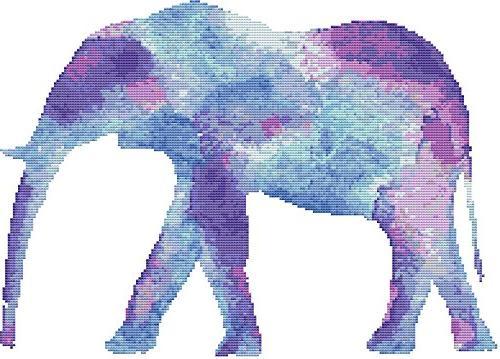 watercolor elephant pattern