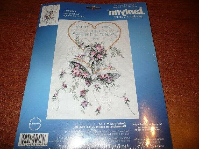 wedding bells cross stitch kit