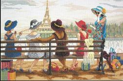 """Janlynn Ladies Day Out Paris Counted Cross Stitch Kit 16 """" x"""