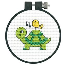 "Learn-A-Craft Turtle Counted Cross Stitch Kit-3"" 11 Count"