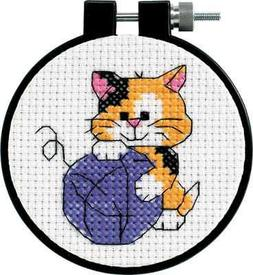 Dimensions Learn-A-Craft Cute Kitty Counted Cross Stitch Kit