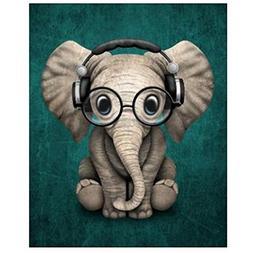 Alloet Little Elephant Diamond Painting Embroidery DIY Cross