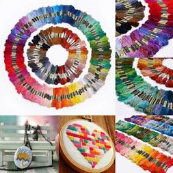 Lot 300 Multi Colors Cross Stitch Cotton Embroidery Thread F