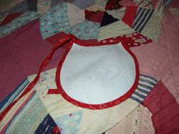lot of 3 counted cross stitch infant bibs