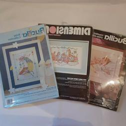 Lot of 3 Cross Stitch Kits Dimensions 3729 Bucilla 40744 411