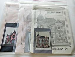 Lot of 3 Victorian Homes Cross Stitch Patterns Nancy Spruanc