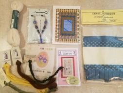 Lot of Assorted Stitchery Cross Stitch Needlepoint Supplies