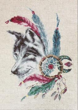 "LUCA-S  Cross Stitch Kit  B2305 - ""The Wolf "", 18 * 25 cm"