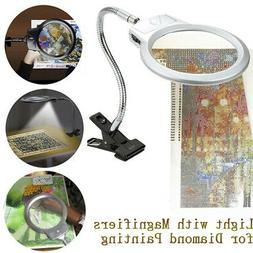 Magnifying Glass with LED Light Clamp And Adjustable Lamp Cr