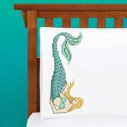 Herrschners® Mermaid Pillow Pair Stamped Cross-Stitch