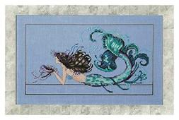 Mirabilia Designs Mermaid Undine AIDA Kit Beaded Counted Cro