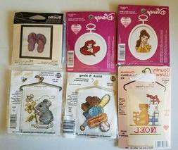 Mini Cross Stitch Kits Mixed Lot of 6 Disney Bucilla NMI