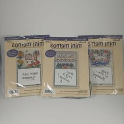 Bucilla Mini Memos Perforated Paper Cross Stitch Kit Magneti