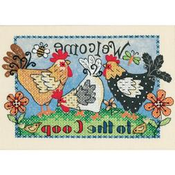 mini stamped cross stitch kit
