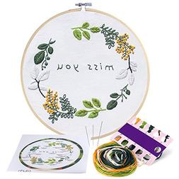 Caydo Miss You Embroidery Patterns Counted Cross Stitch Kit
