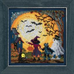 Moonlit Treaters Beaded Counted Cross Stitch Kit Mill Hill 2