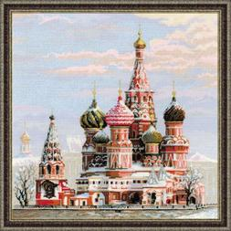 RIOLIS 14 Count Moscow St Basil's Cathedral Counted Cross St