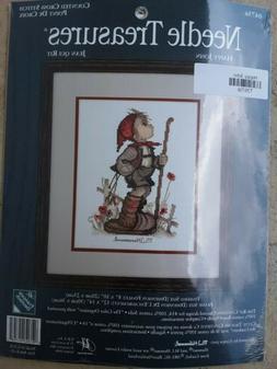 "Needle Treasures Kit Counted Cross Stitch M.I. Hummel ""Happy"