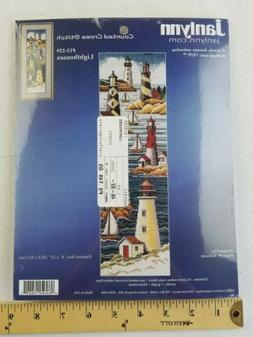 New Janlynn Counted Cross Stitch Kit Lighthouses #13-229 6 x