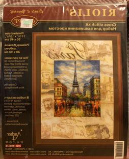 NEW RIOLIS Counted Cross Stitch Kit PARIS 0018PT Eiffel Towe