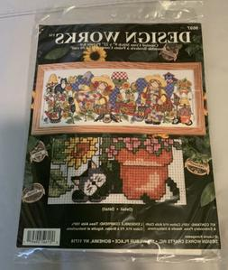 "New Design Works counted cross stitch 9""x22"" - ""Garden"
