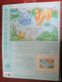 New DIMENSIONS Little Pond Baby Birth Record COUNTED CROSS S