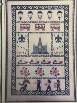 New Orleans Sampler Cross-stitch Kit, 14 count Aida DMC Flos