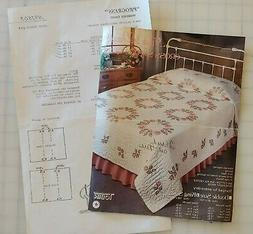 NEW Rose Wreath Quilt stamped cross stitch embroidery 1503 f