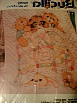 "NIP Bucilla Baby  Cross Stitch~ WELCOME BABY CRIB COVER  34"""