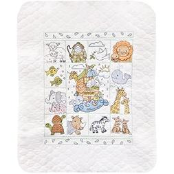 Tobin Noah's Ark Baby Quilt - Stamped Cross Stitch Kit T2177