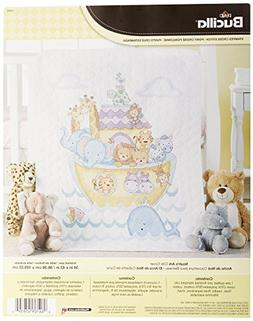 "Noah's Ark Crib Cover Stamped Cross Stitch Kit, 34"" x 43"