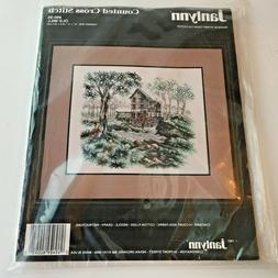 "JANLYNN OLD MILL Counted Cross Stitch Kit #80-95 14""x12"" NEW"