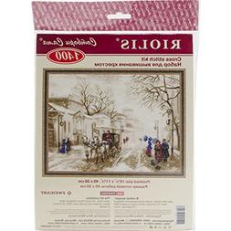 """Old Street Counted Cross Stitch Kit, 15.75"""" x 11.75"""", 14 Cou"""